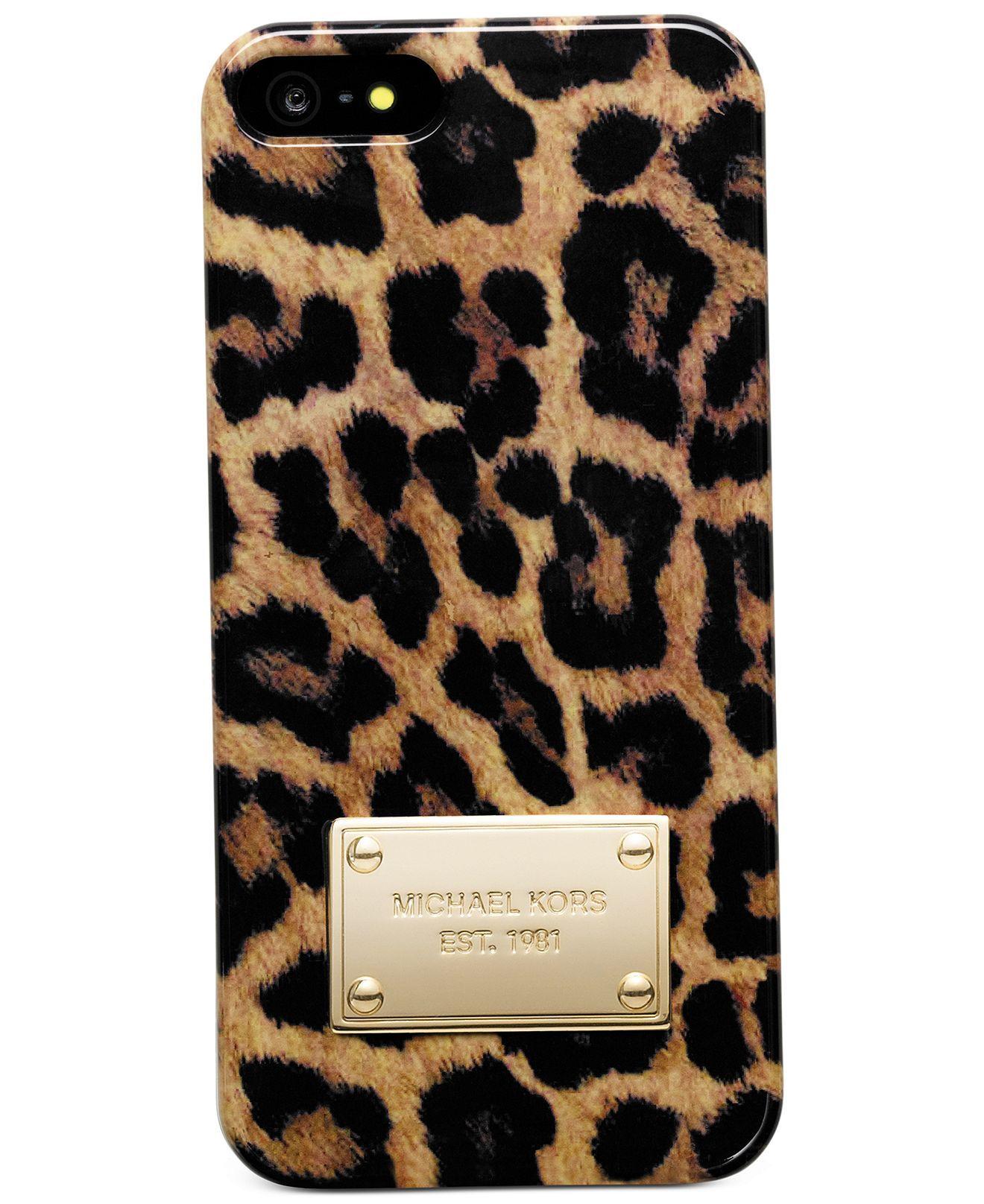 in stock 9ef25 8baff MICHAEL Michael Kors iPhone 5 Case, Cheetah Print - Tech Cases ...