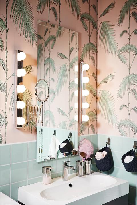 Apliques para el espejo del cuarto de baño   Baño ikea ...
