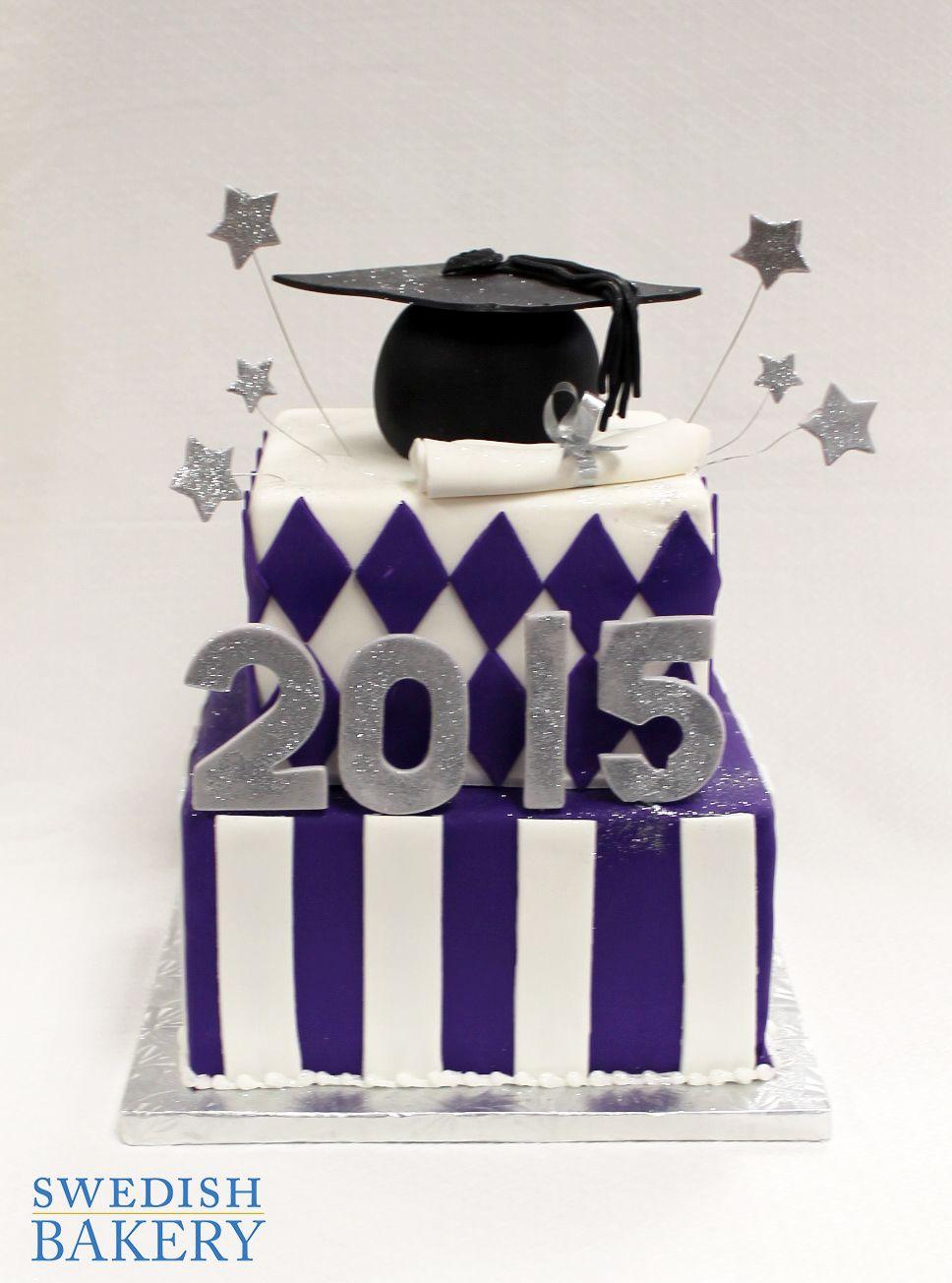 Graduation Cake   Graduation Cap, Year & Stars   Swedish Bakery
