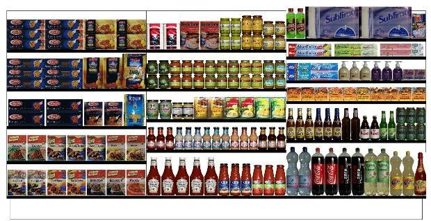 Sample of planogram the retail shelf planner sample for Retail space planning software