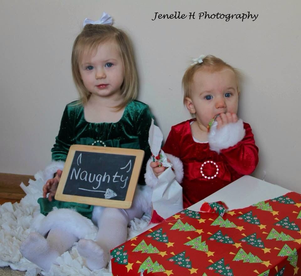 """Picture Ideas Brothers: Sibling Christmas Photo/Would Be Funny If It Said """"She Did"""
