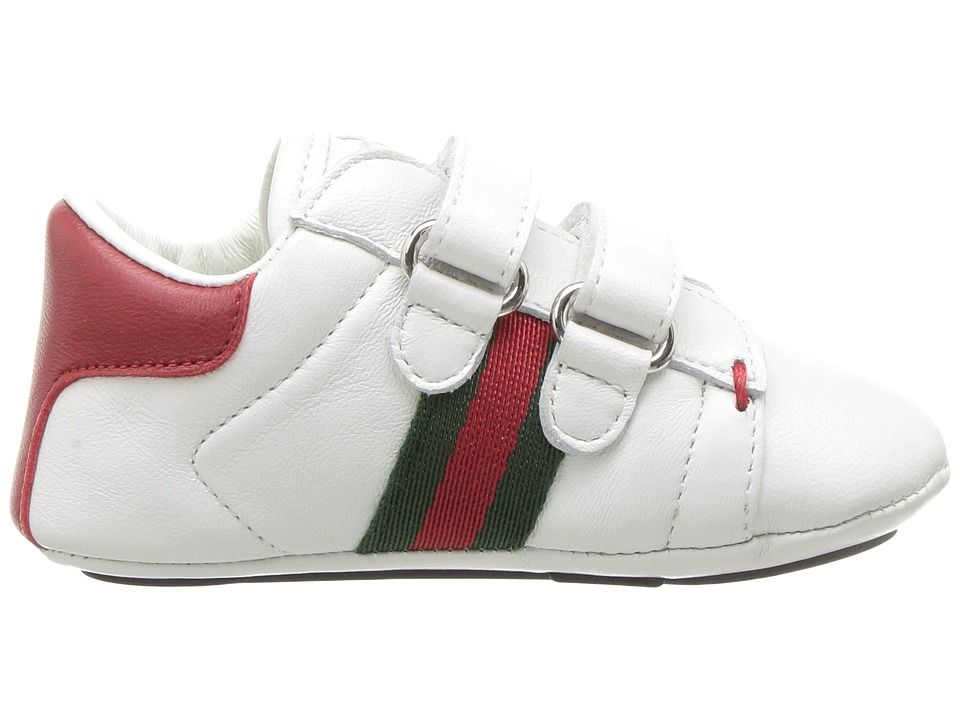 b7888bf4351 Gucci Kids Baby Ace V.L. Sneakers (Infant Toddler) Kids Shoes White ...