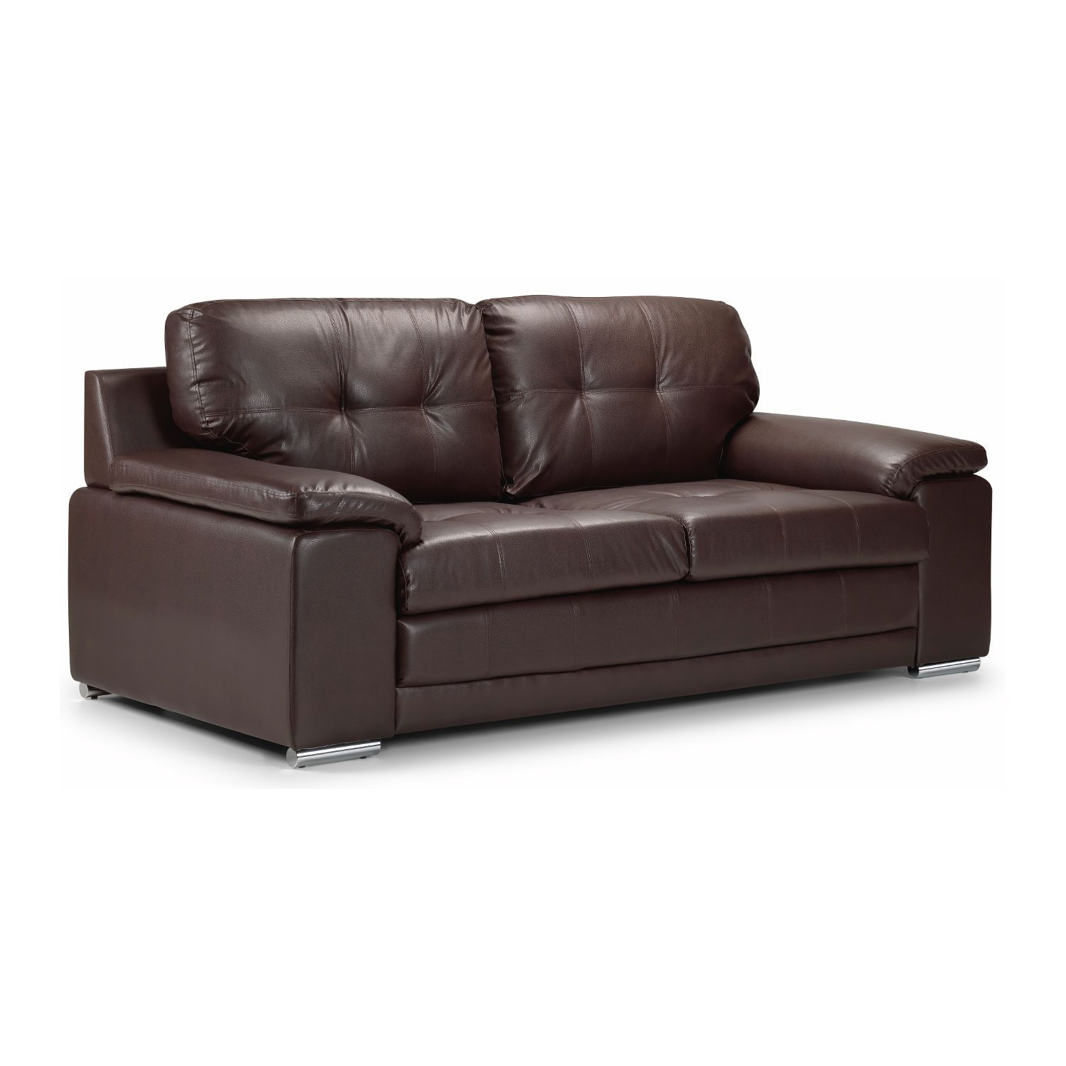 Dexter 2 Seater Bonded Leather Sofa Bed Guest Spare Sleeper Bed Futon Sofa Ebay Brown Leather Sofa Bed Leather Sofa Bed Best Leather Sofa