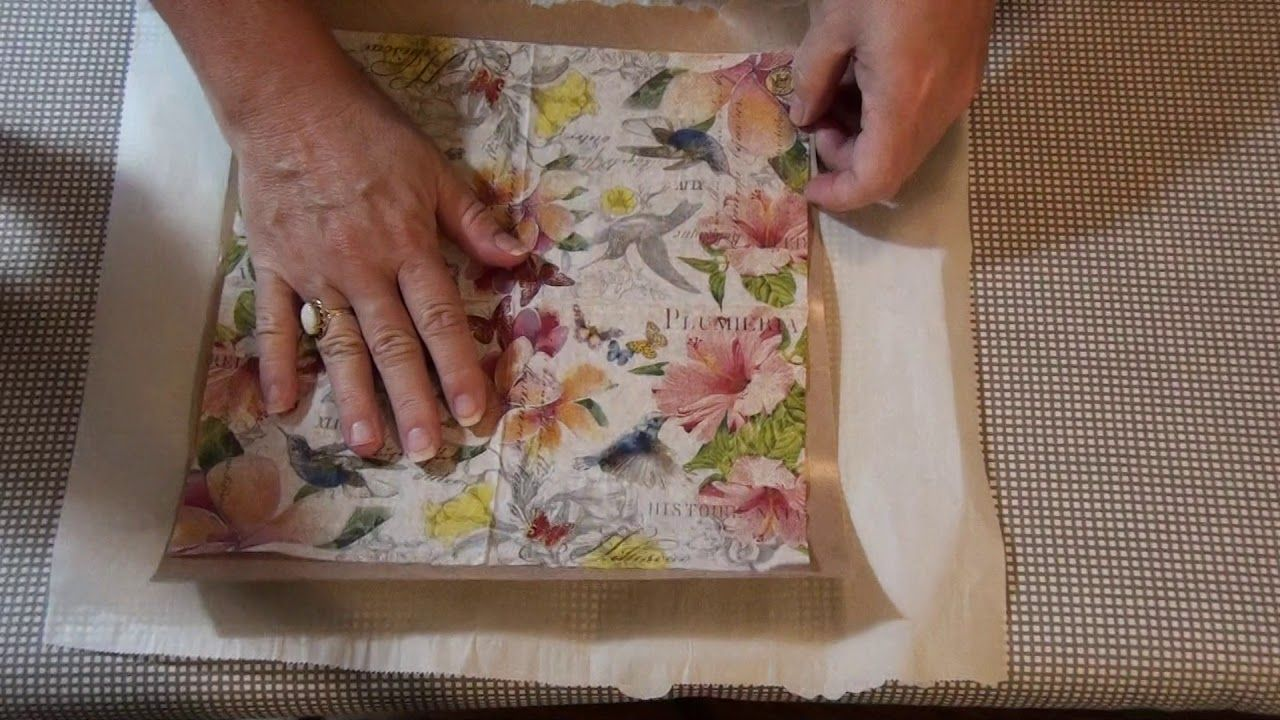 Adhering Napkins to tracing paper & freezer paper DO they