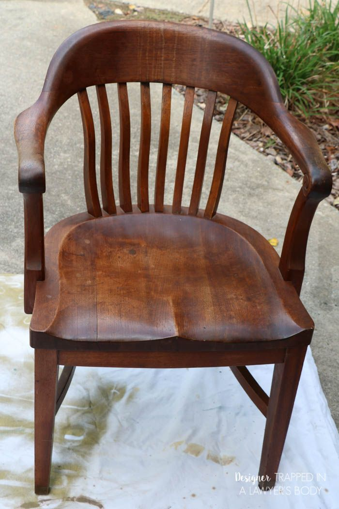 Learn How To Refinish Wood Chairs Without Sanding Or Stripping The Existing Finish Full Tutorial By Designer Tred In A Lawyer S Body Spon