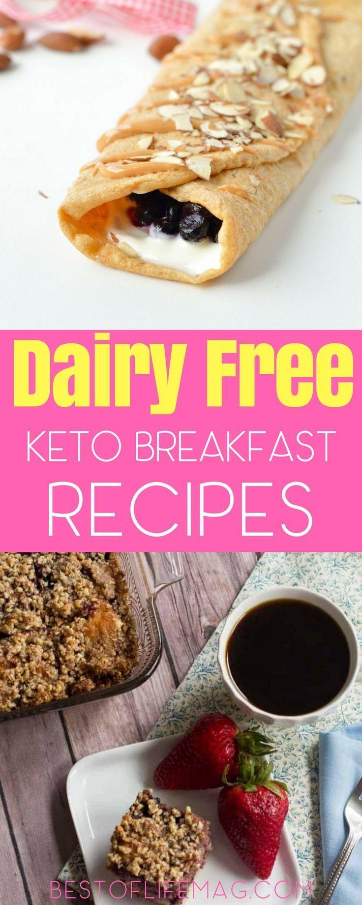 Dairy Free Keto Breakfast Recipes. #keto #ketorecipes #ketohealth #ketodairyfree #dairyfree #dairyfreesmoothie