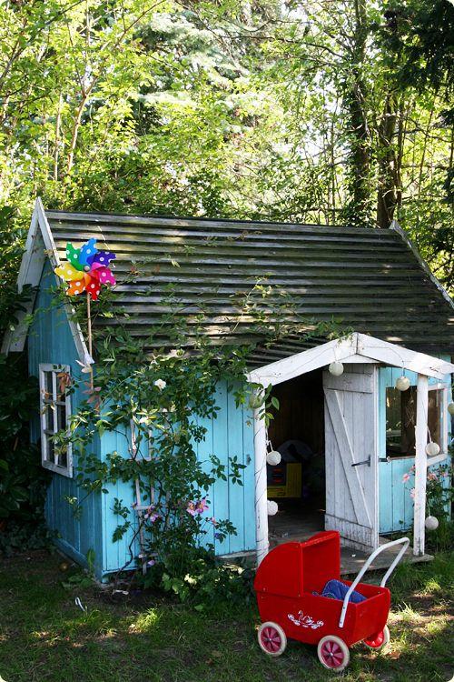 Maison de jardin pour enfants cabane enfant legehus hjem et kreative ideer - Maison de jardin pour enfant ...