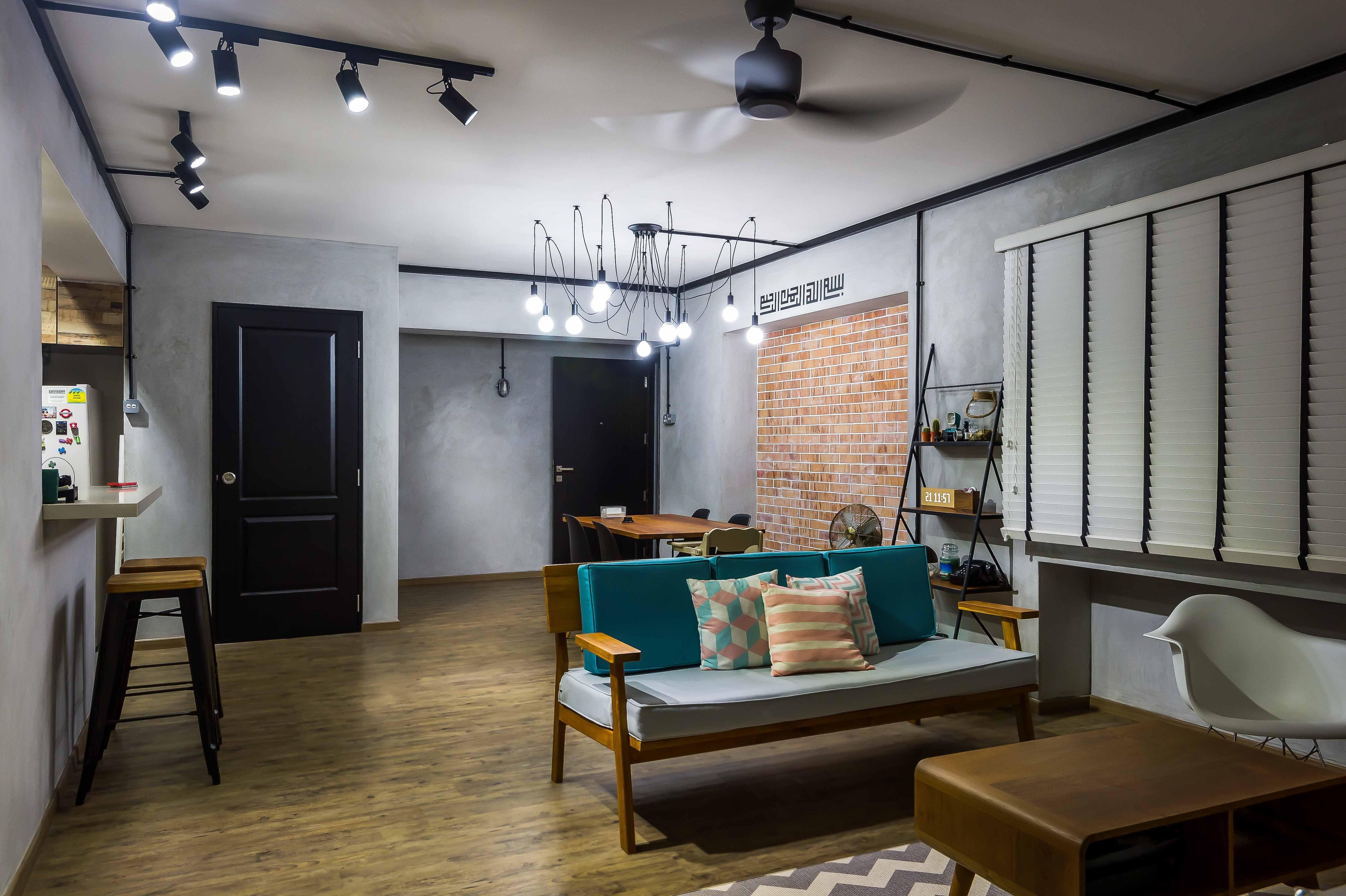 Industrial Themed Hdb 5room Re Sale By Bayti Design Pte Ltd Decoracao Futura Casa Casas