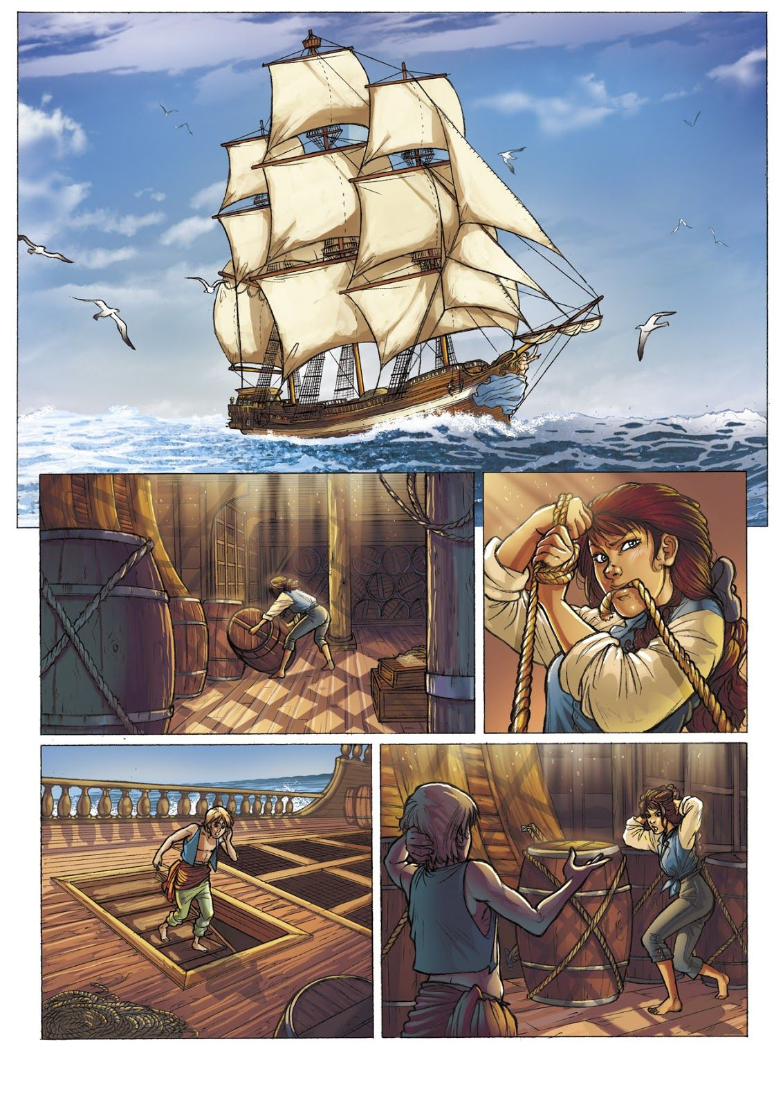 Les Aventurier De La Mer : aventurier, Daniela, Matteo, 'Dimat', Aventuriers, Robin, Hobb,, Grounds,, Comics