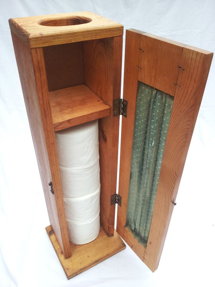 Country Style Natural Wood Toilet Paper Storage Cabinet W Tissue Dispenser Toilet Paper Storage Storage Cabinet Toilet Paper