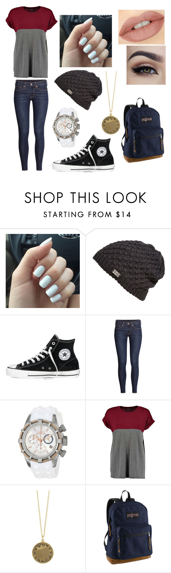 """Untitled #748"" by sarah6623 ❤ liked on Polyvore featuring Under Armour, Converse, H&M, Invicta, House of Harlow 1960, JanSport, women's clothing, women, female and woman"