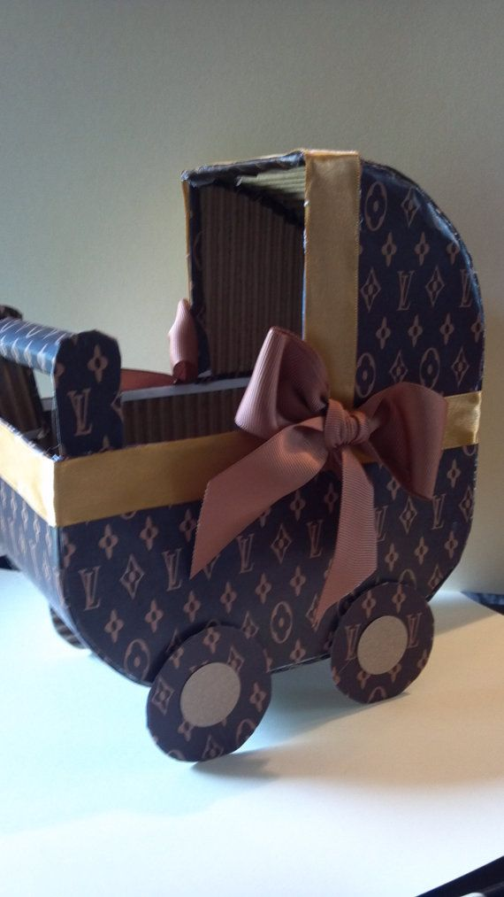 Carriage Tan Baby Shower Centerpiece baby by SWEETBABYLAND on Etsy, $16.00
