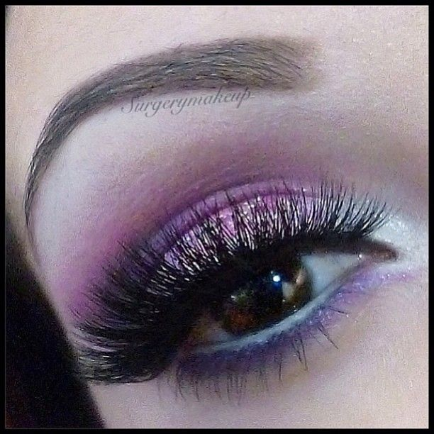"""Pretty Pink shimmering eyes by @SurgeryMakeup so mesmerizing... LASHES: #FlutterLashes in """"LORI"""" Hashtag us at #FlutterLashes with lash name to be featured ✨Visit us at www.FlutterLashes.com #pretty #pink #lashes"""