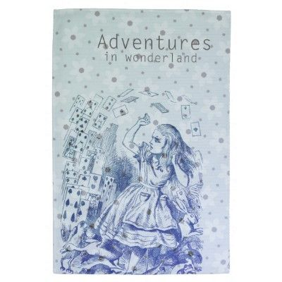 Adventures in Wonderland kitchen towel by joacreations