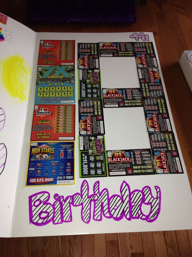 18th Birthday Scratch Win Card