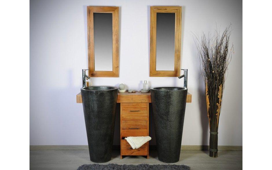 Meuble de salle de bain ensemble Cleopatra 140 noir Home (future