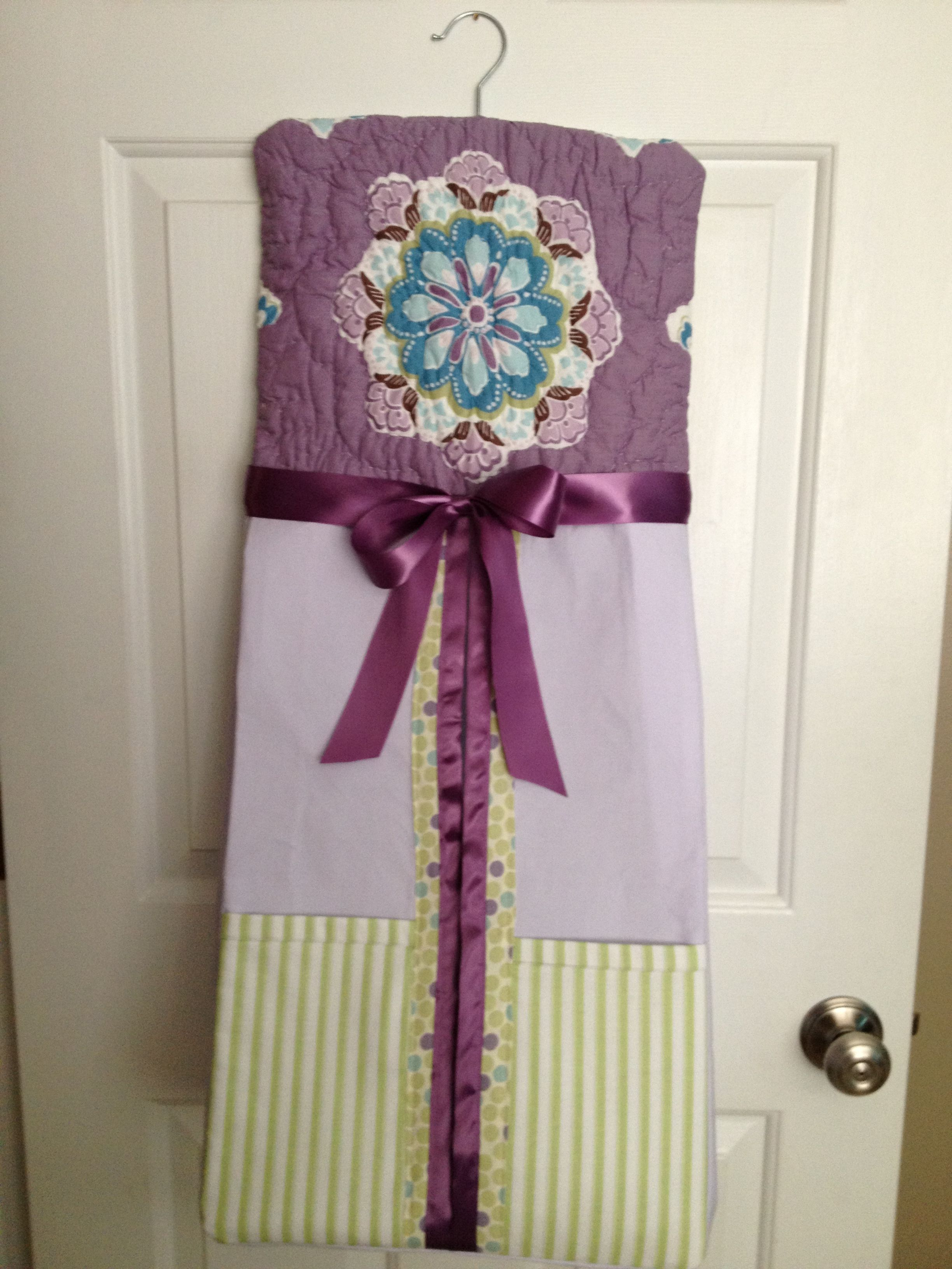 custom made diaper stacker to match pottery barn brooklyn bedding