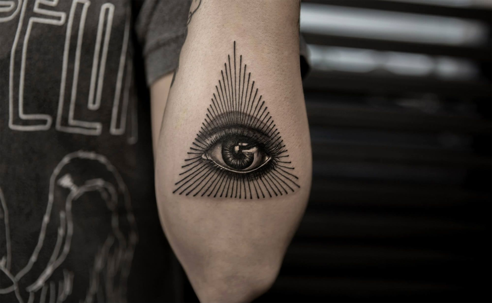 """Tattoos of the Mighty """"Eye of Providence"""" All seeing eye"""