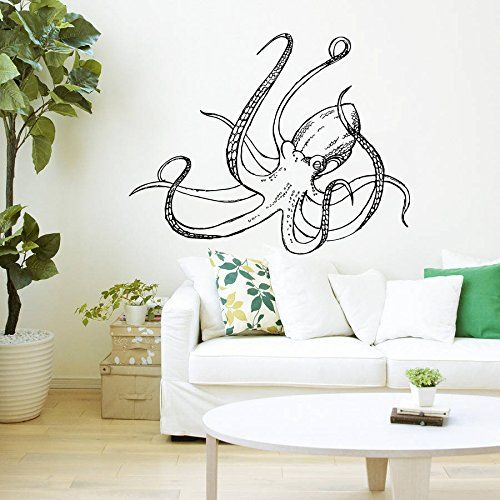 Wall Decals Octopus Tentacles Fish Deep Sea Ocean Animals Fashion