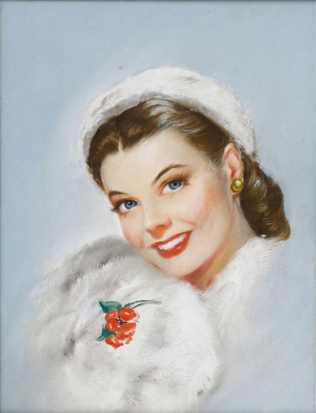 Женский образ в открытках