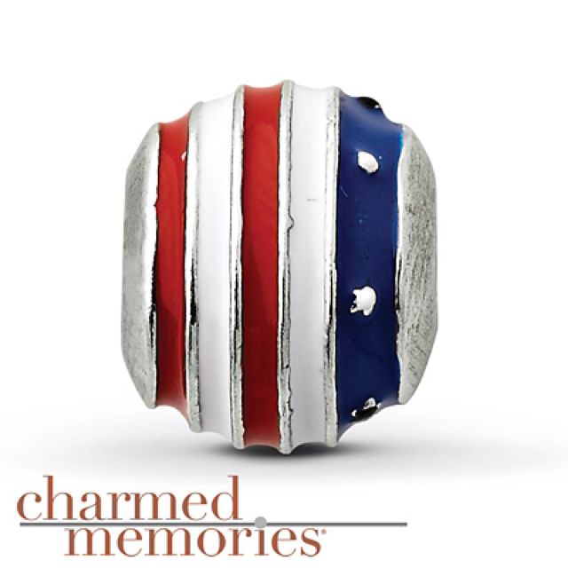 Red, White, & Blue Charm