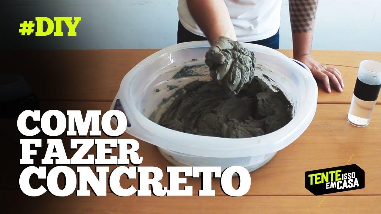 COMO FAZER CONCRETO (com ARGAMASSA pronta) #DIY