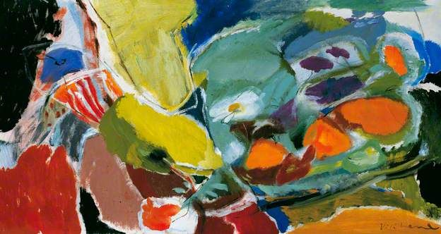 Patchwork of Daisies and Marigolds, Ivon Hitchens