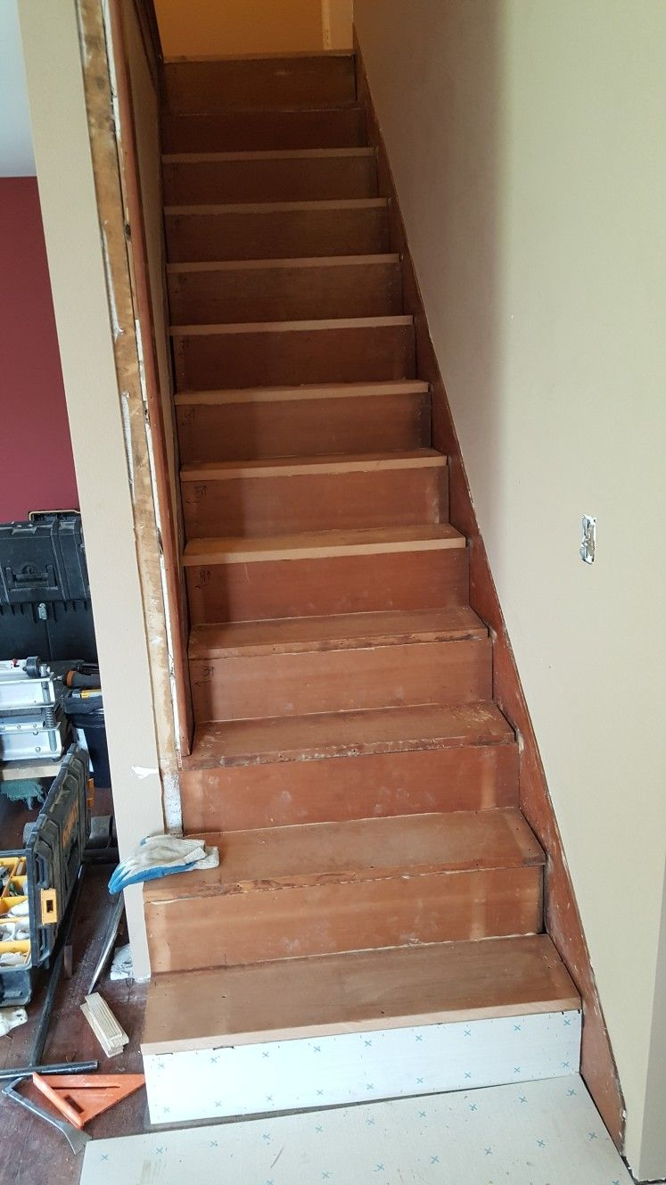 Took Stairs Apart, Flipped Boards Put Back Together