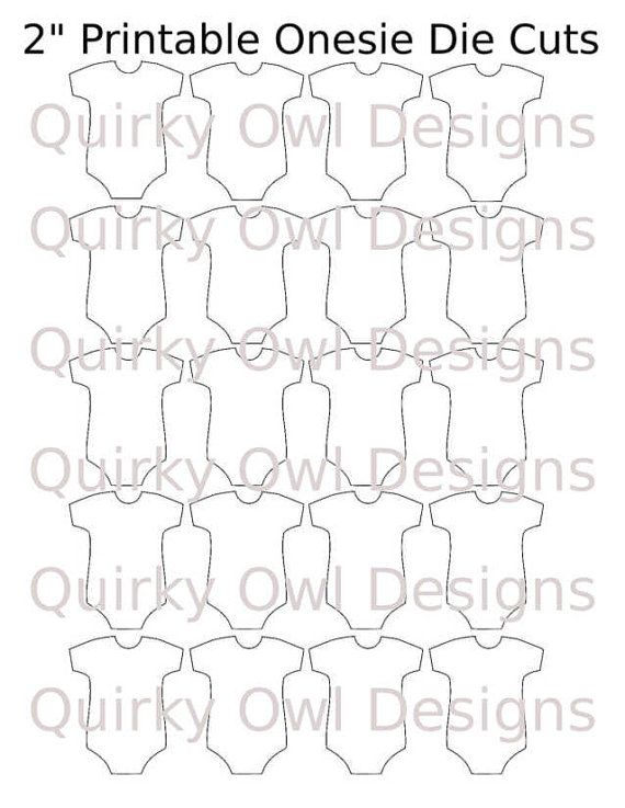 Onesie Die Cut Digital Template ~ Editable ~ Baby Onesie Die Cuts