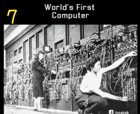 WORLD'S FIRST COMPUTER 😃 First world, World's first