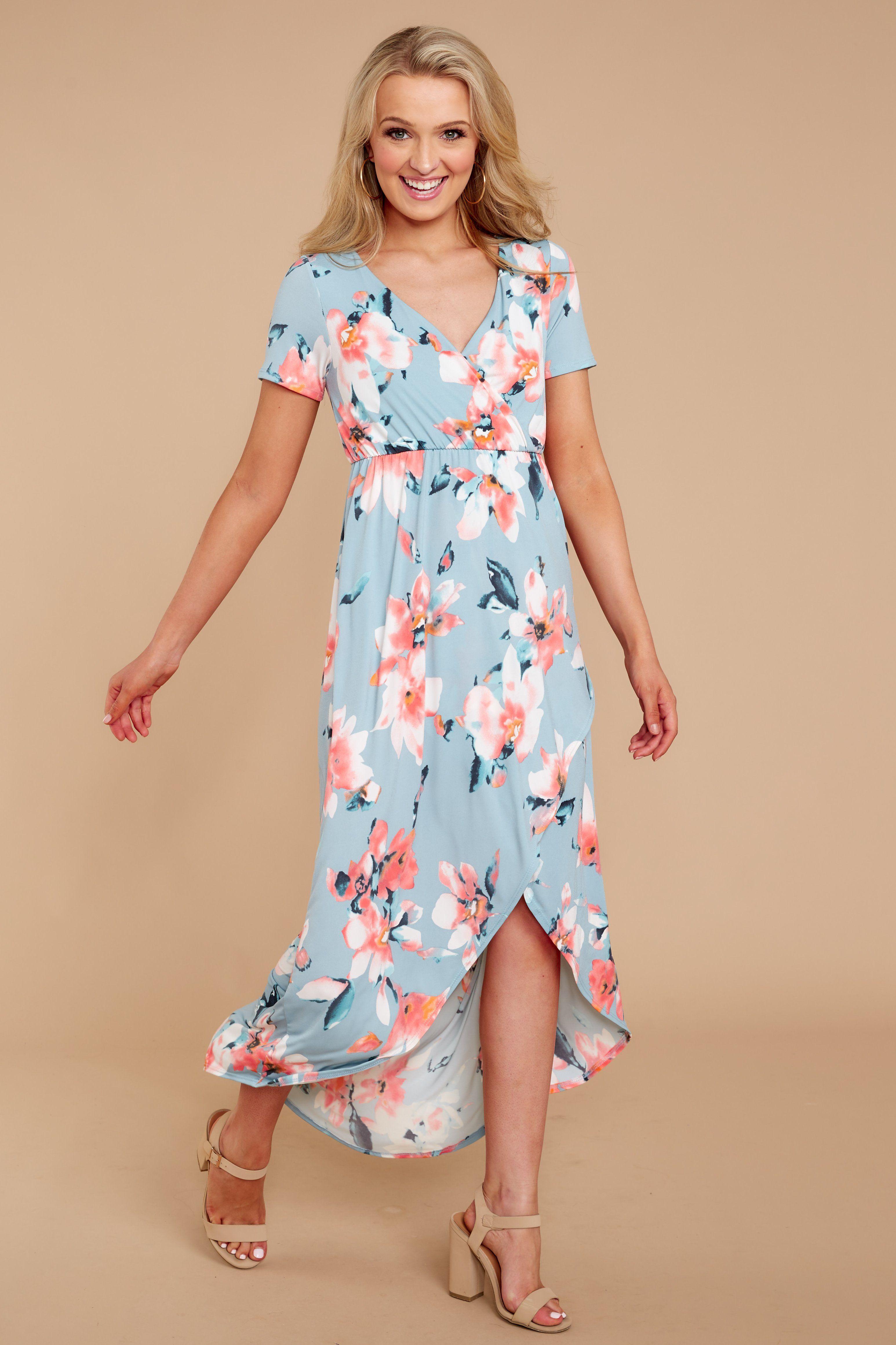 5a148c3d29 Adorable Blue Floral Print Dress - Chic Floral Print Dress - Dress -  42.00  – Red Dress Boutique