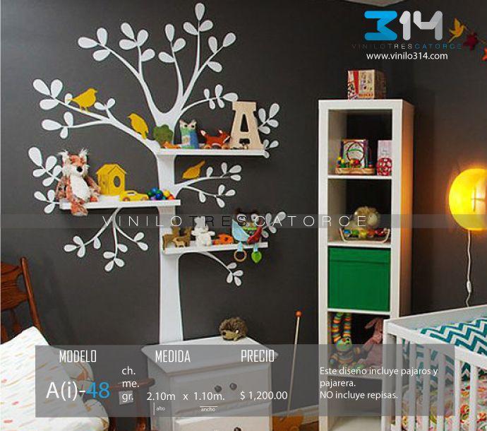 Vinilos decorativos rboles infantiles sticker decorativo for Vinilos muebles infantiles