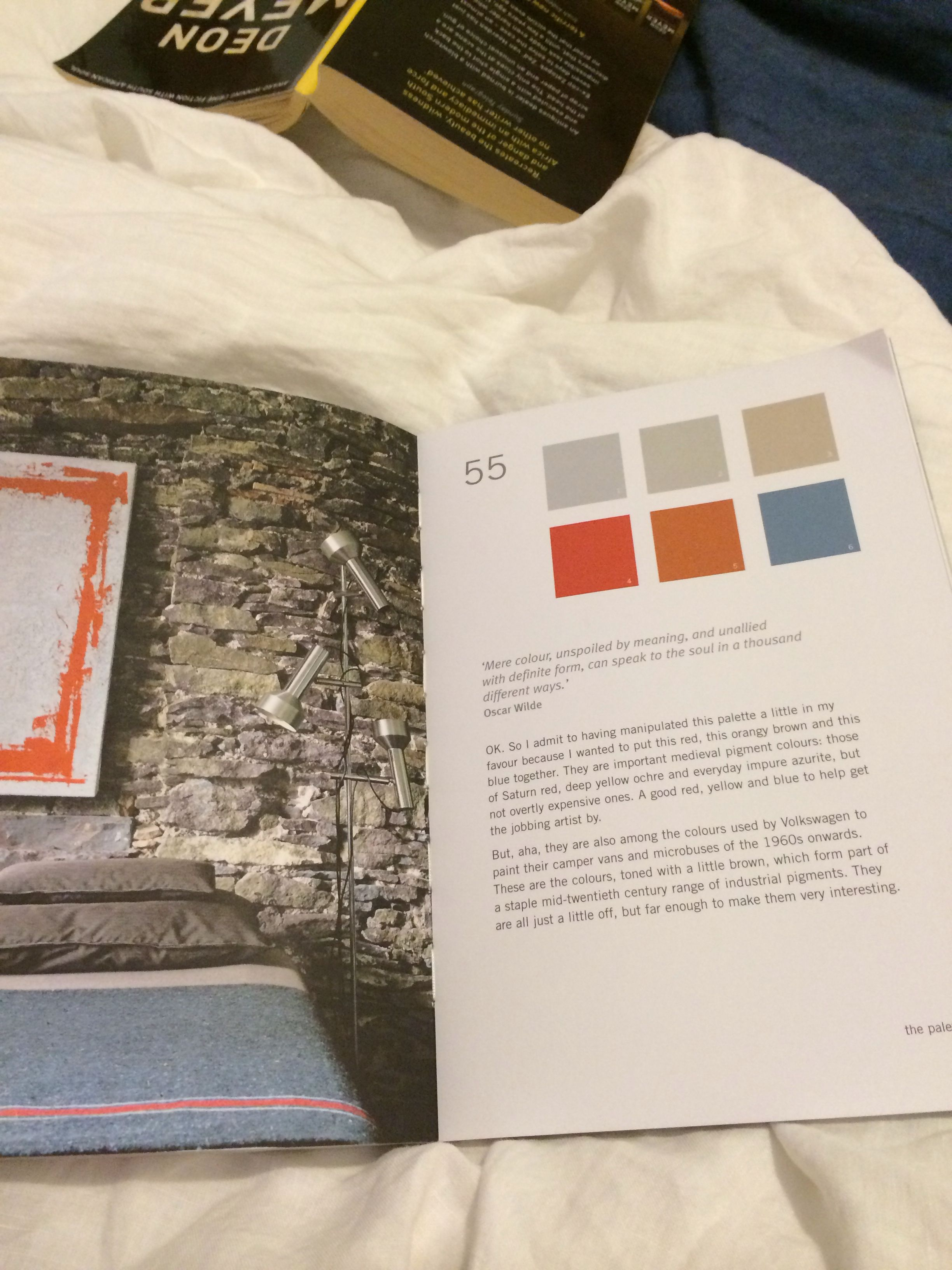 """Saturn red, deep yellow ochre & impure azurite with greys  - Kevin McCloud """"Colour Now"""""""