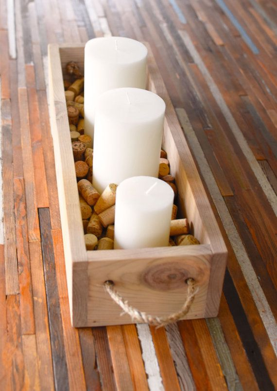 Rustic Flower Box Table Centerpiece, Wooden Box, Storage Box, Candle Holder