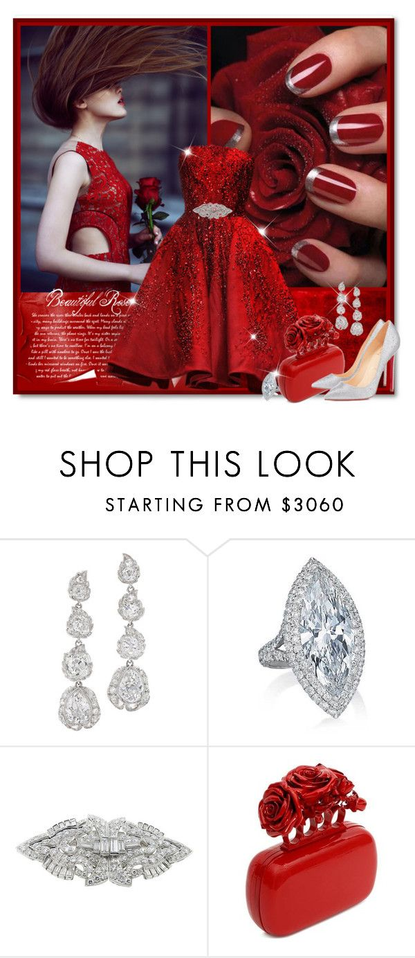 """""""Red Rose"""" by petri5 ❤ liked on Polyvore featuring Elie Saab and Alexander McQueen"""
