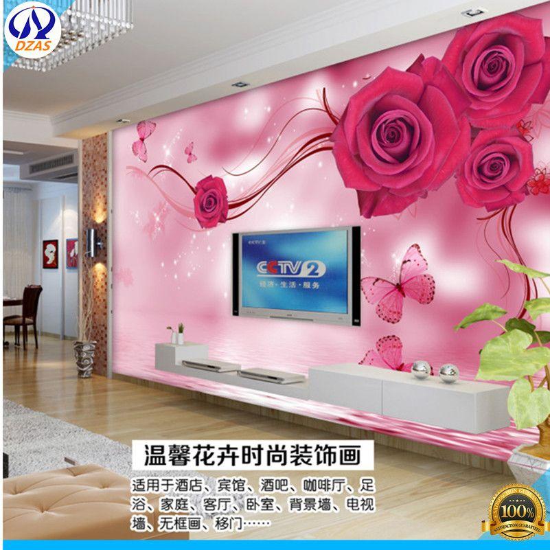 European - style three - dimensional fresh fresh living room TV ...