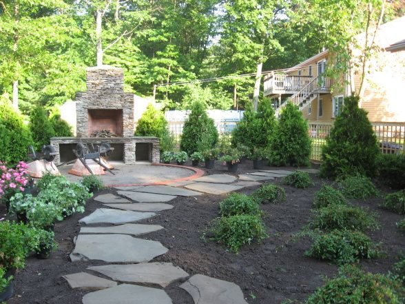Backyard Transformation | No grass backyard, Small ... on Non Grass Backyard Ideas id=53447