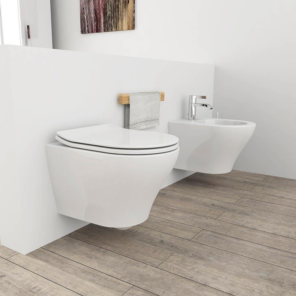 Sanitari Sospesi 50x36 Zero Bagno Minimalista Arredamento Bagno