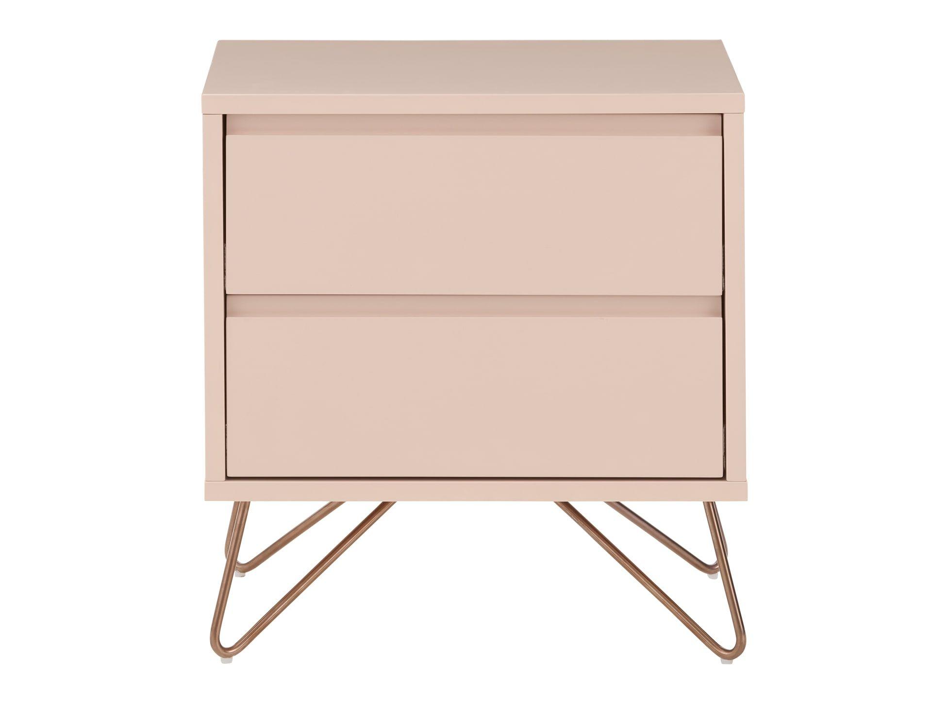 Elona Bedside Table Dusk Pink In 2020 Bedside Table Design Bedside Table Wide Chest Of Drawers