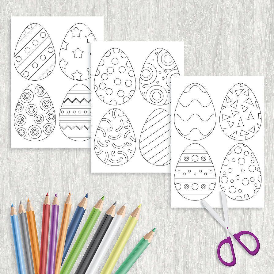 "Раскраска ""Пасхальные яйца   Пасхальные яйца, Пасха и ..."