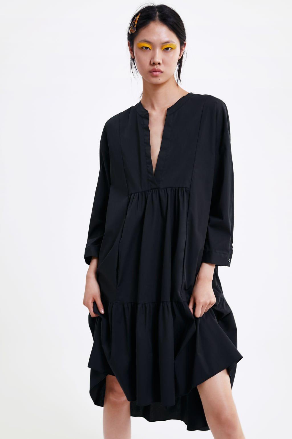 LONG POPLIN DRESS   View all DRESSES WOMAN   ZARA United States ...