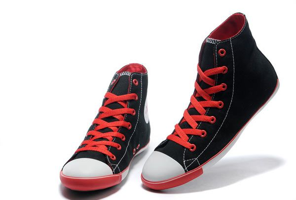 92874cdba37d Classic Converse Chuck Taylor All Star Princess Series Women s Canvas Shoes  High Top Black Red