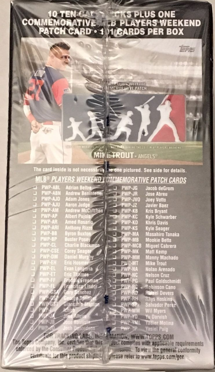 2018 topps series 1 baseball sealed blaster box 10 packs