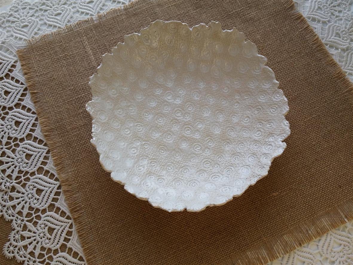 Ceramic Bowl, White Ceramic, Art Deco, Modern Ceramic, Table Decor, Lace  Bowl, Gift For Wedding, Wedding Decoration, Fruit Bowl