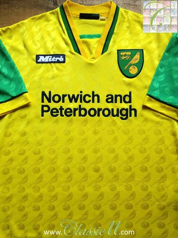 Relive Norwich City s 1996 1997 season with this vintage Mitre home  football shirt. 9775762937827