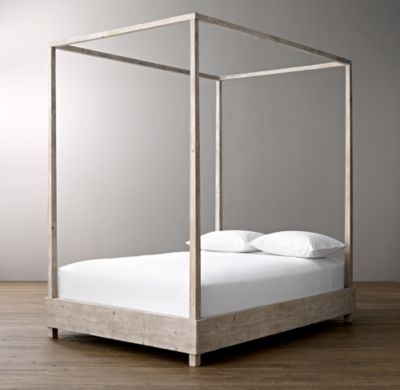RH Babyu0026childu0027s Callum Platform Canopy Bed:The Classic Canopy Bed Gets A  Modern Makeover.