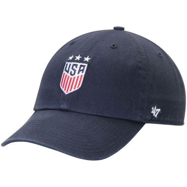 61e26532dbf Women s  47 Navy Team USA Soccer Three Star Clean Up Adjustable Hat ...