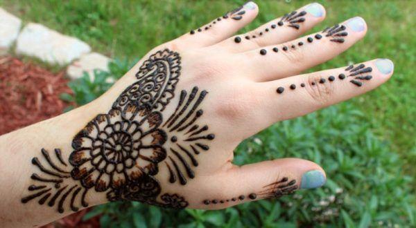 Mehndi For Girls Easy : Beautiful and easy henna mehndi designs for girls design