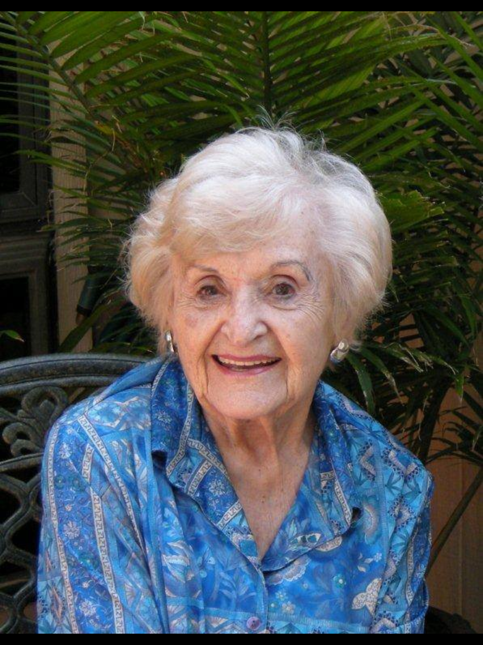My beloved aunt, Linda Lay Shuler, on her 100th birthday. A remarkable woman who touched my life indelibly!