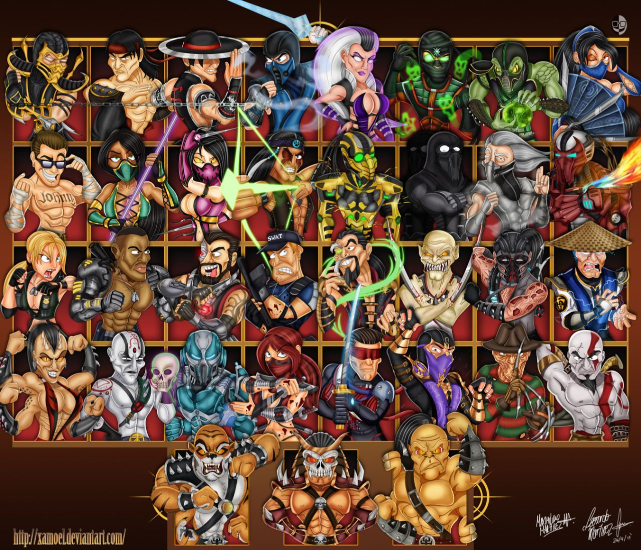 Mortal Kombat 9 Cast | Video Games | Mortal kombat 9, Mortal